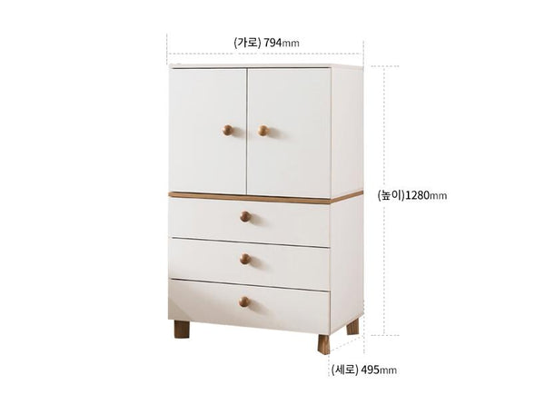 New Comme 2-Door Storage with Drawers (accept pre-order)