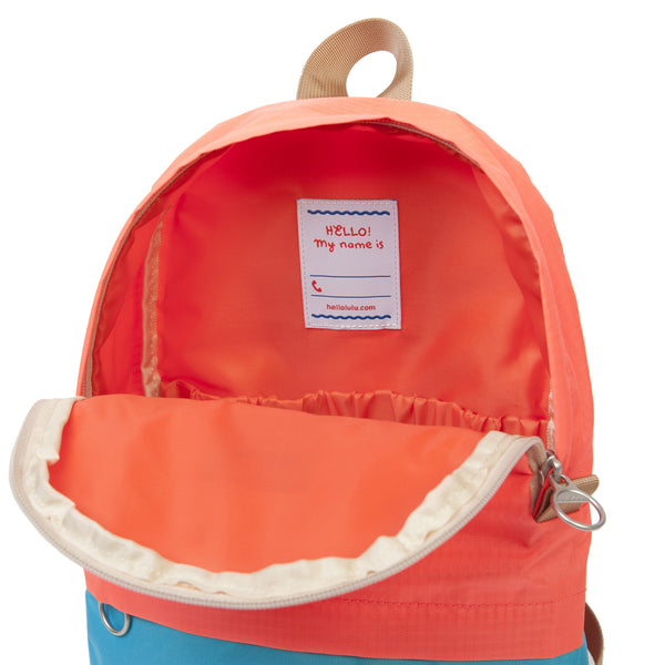 Pili - All-day Backpack - Neon Orange/ Light Blue