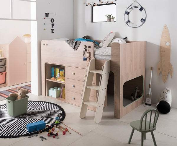 Tidy Up Loft Bed with Cabinets (accept pre-order)