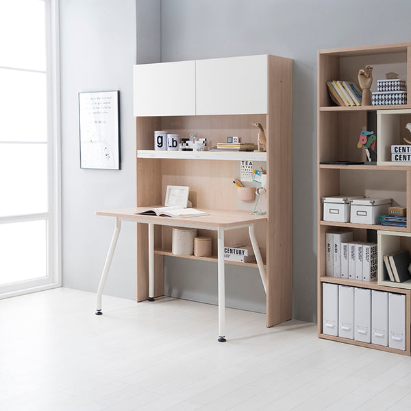RUDI Desk and Front Bookshelf with Doors (accept pre-order)