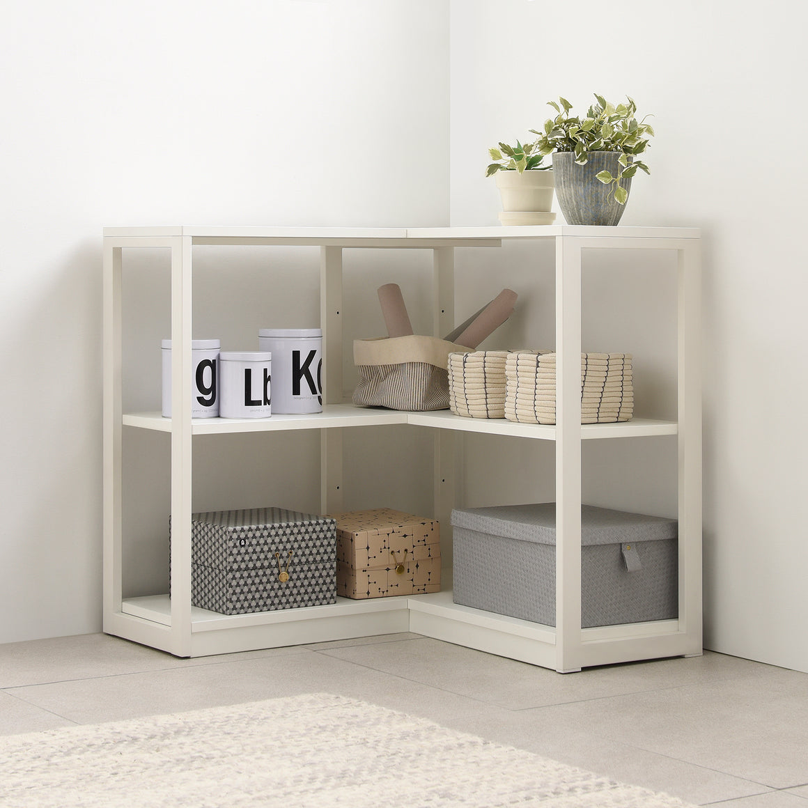 Module+ 2- Level Corner Shelf 800