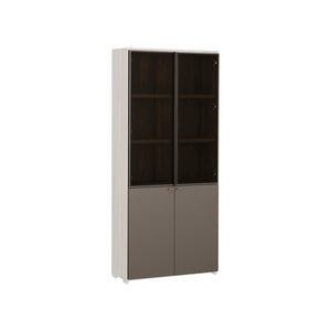 Join 800 5-level Wood Cabinet with Glass & Wood Door (accept pre-order)