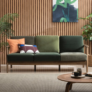 [Limited Edition] New Tom Sofa Mixed Green/ Walnut [three-seater] (accept pre-order)
