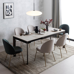 [Special] Sonore Extendable Dining Table - Ceramic with 4 Chairs Set (accept pre-order)