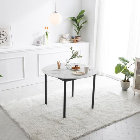 Rotir Dining Table 1000 - Marble Pattern (accept pre-order)