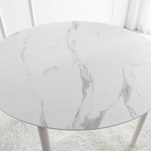 Rotir Dining Table 1000 - Marble Pattern