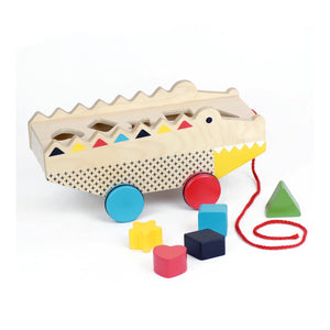 Rock + Roll Alligator Shape Sorter Pull Toy