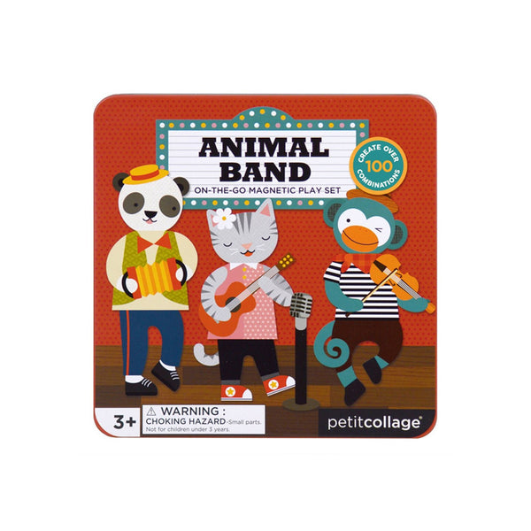 Petit Collage Magnetic Play Set - Animal Band