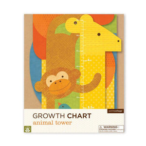 Petit Collage Growth Chart - Animal Tower