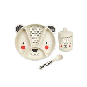 Petit Collage Bamboo Mealtime Set - Bear