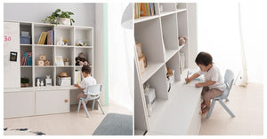COMME Magnetic Sliding Bookshelf with Lower Storage (accept pre-order)