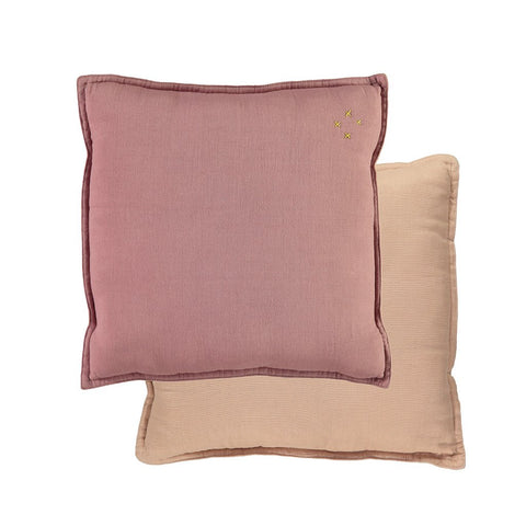 Two Tone Square Cushion - Blush/ Peach Blossom