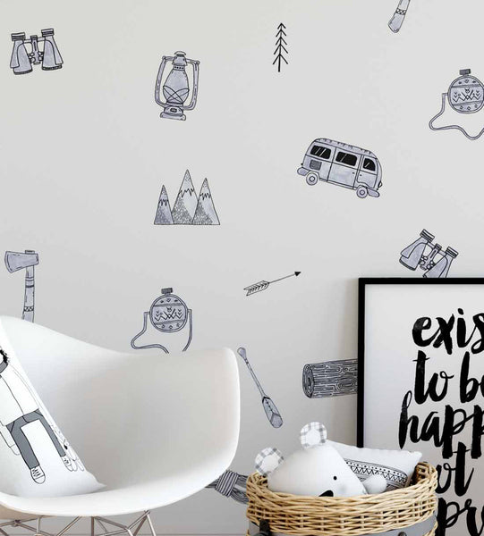 Easy Wall Sticker - Camping Car (accept pre-order)