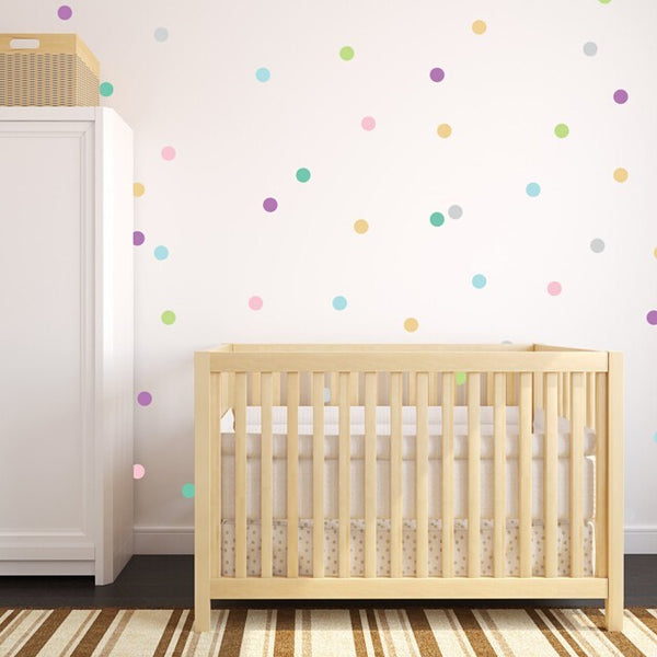 Easy Wall Sticker - Confetti Polka Dots Pastel (accept pre-order)