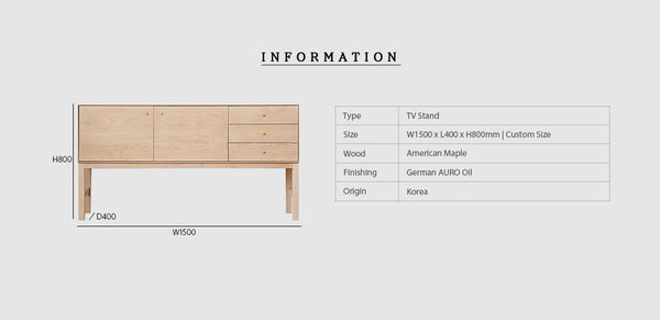 Cozy TV Stand 01