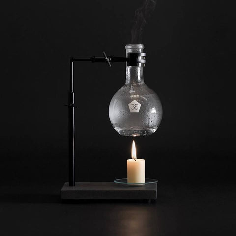 Essential Oil Burner - Charcoal Concrete