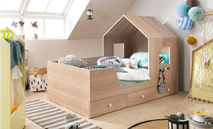 FAMILY TRIP Mini House Bed with 3 Drawers (accept pre-order)
