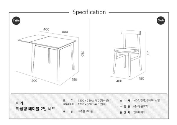FIKA Extension Table (accept pre-order)