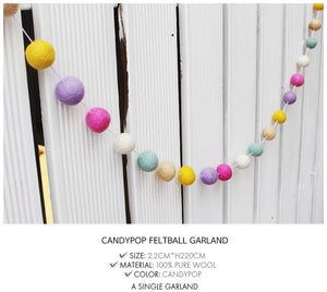 Feltball Garland - Candy Pop