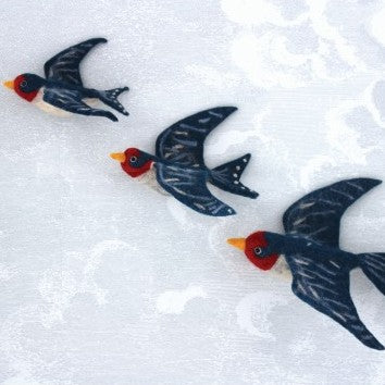 Wall Decoration - Flying Swallow Trio (accept pre-order)