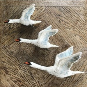 Wall Decoration - Flying Swan Trio (accept pre-order)