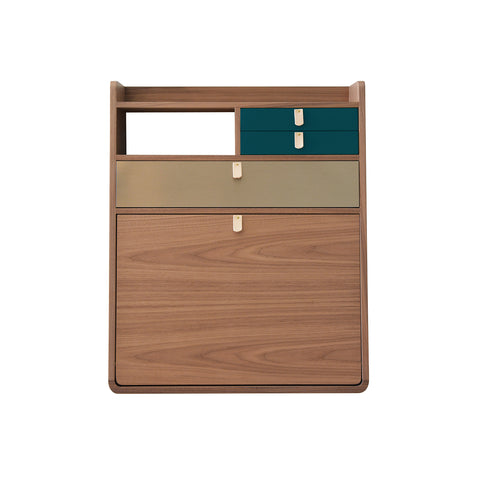 Secretary Desk Gaston 60cm Walnut
