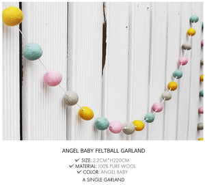 Feltball Garland - Angel Baby