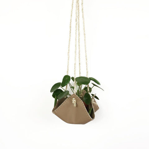 Vegan Leather Plant Hanger - Natural