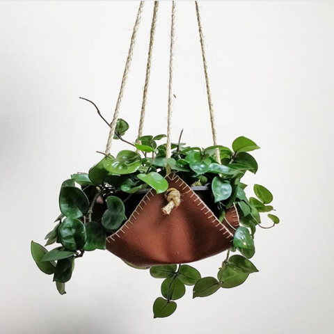 Vegan Leather Plant Hanger - Tan