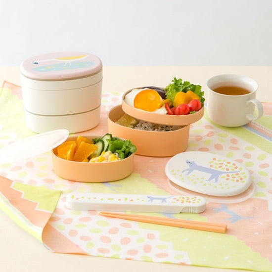 IROHA Cute Japanese Bird Oval Lunch Box