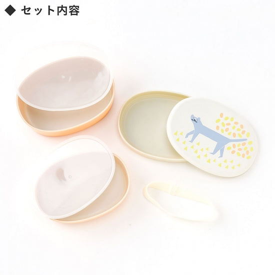 IROHA Cute Japanese Cat Oval Lunch Box