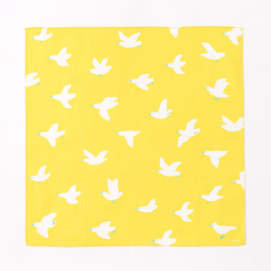 IROHA Cute Japanese Yellow Bird Print Picnic Cloth