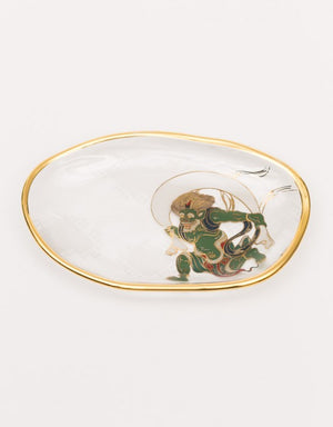 ISHIZUKA Thunder God and Wind God Glass Plate Set