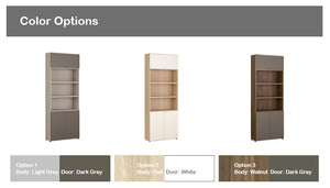 Join 800 6-level Wood Cabinet with Top + Lower Door (accept pre-order)