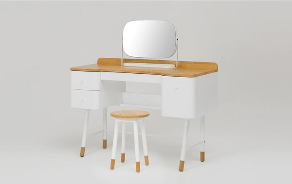 Kuss Desk with Mirror & Stool Set (accept pre-order)