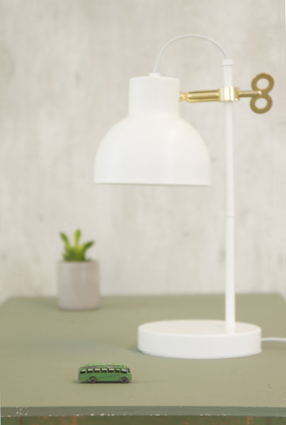 Table Lamp Lil' Key brass with White Metal