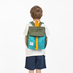 Linus Outdoor Backpack - Neon Orange/ Light Blue