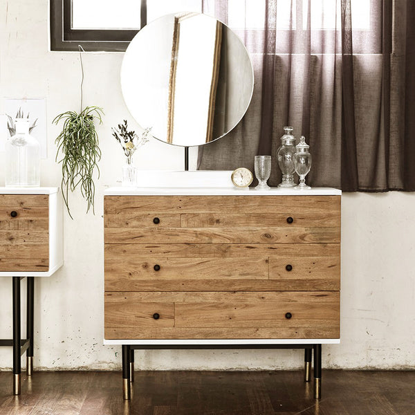 MY SIGNATURE LONDONER 3 Drawers Console Set with Mirror (accept pre-order)