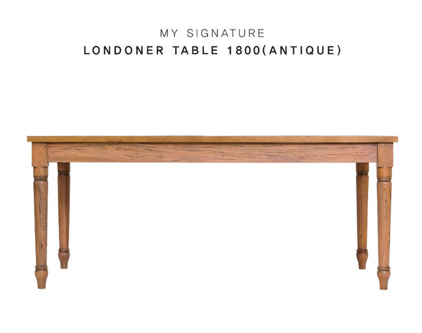 MY SIGNATURE LONDONER Mahogany Wood Table 1800 (accept pre-order)