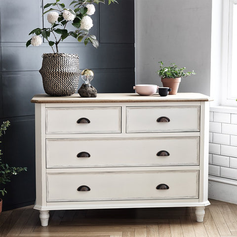 MY SIGNATURE PARISIENNE 4 Drawers Cabinet Cream (accept pre-order)