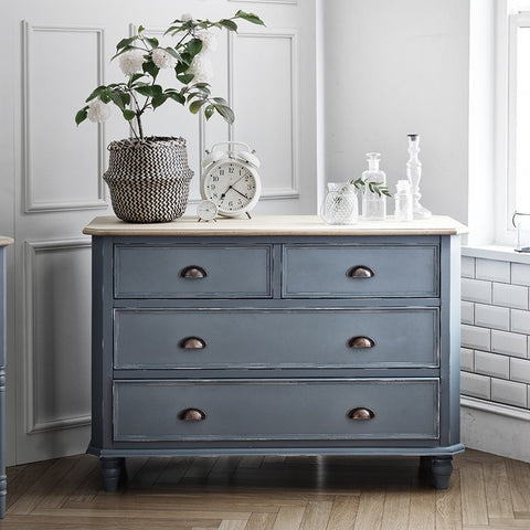 MY SIGNATURE PARISIENNE 4 Drawers Cabinet Blue (accept pre-order)