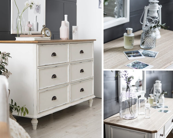 MY SIGNATURE PARISIENNE 6 Drawers Cabinet Cream (accept pre-order)