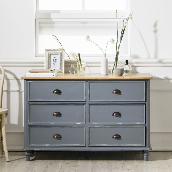 MY SIGNATURE PARISIENNE 6 Drawers Cabinet Blue (accept pre-order)