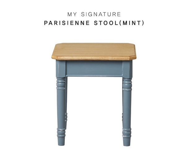 MY SIGNATURE PARISIENNE Stool Blue (accept pre-order)