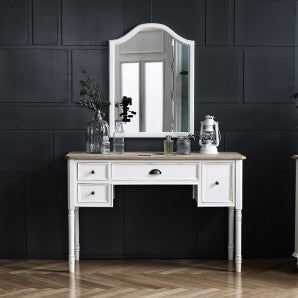 MY SIGNATURE PARISIENNE Console Desk with Wall Mirror Set Cream (accept pre-order)