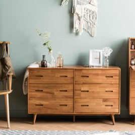 NEW RETRO Wide Cabinet 6 Drawers (accept pre-order)
