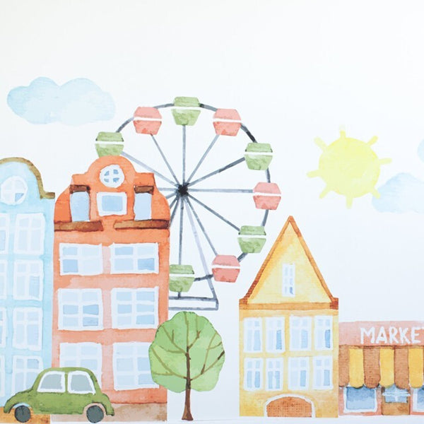 Easy Wall Sticker - Parisienne Market Place (accept pre-order)
