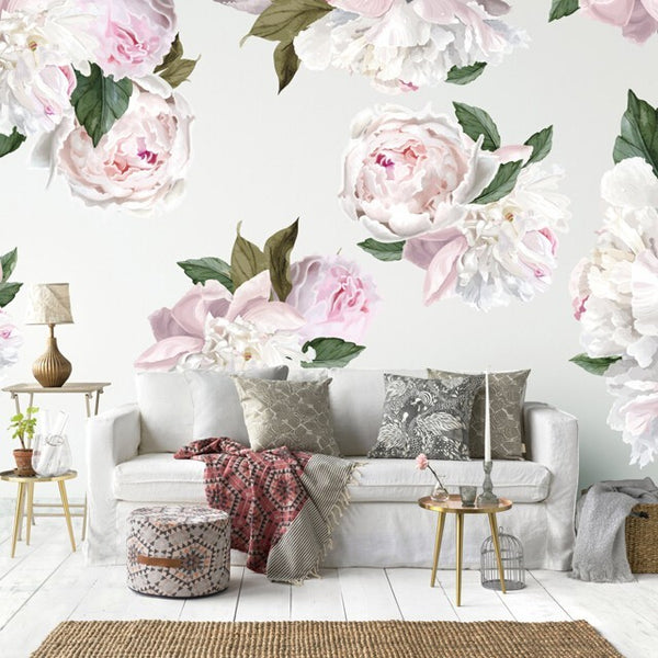 Easy Wall Sticker - Peonies (accept pre-order)