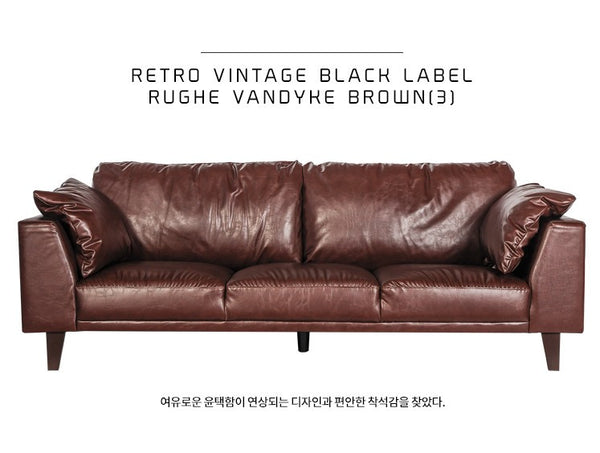 RUGE Vandyke Brown (3 seater)
