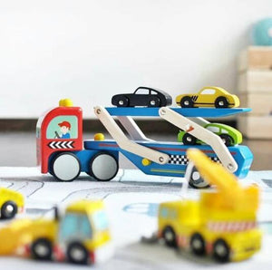 Cars & Construction: Race Car Transporter Set